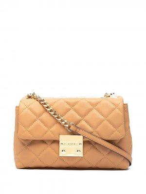 Стеганая сумка на плечо Bailey Carvela. Цвет: розовый