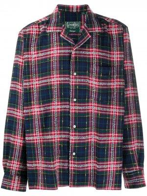 Рубашка в клетку тартан Gitman Vintage. Цвет: красный