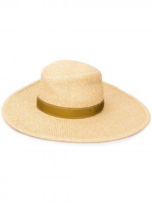 Широкополая шляпа Chloé. Цвет: нейтральные цвета