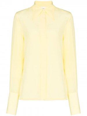 Рубашка с заостренным воротником Victoria Beckham. Цвет: желтый