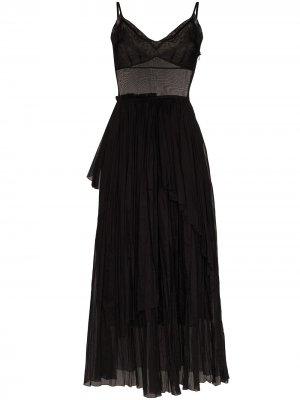 Платье макси Vika Gazinskaya. Цвет: черный