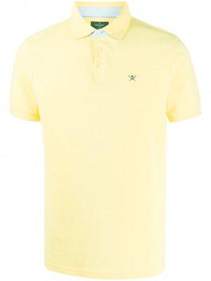 Рубашка-поло с вышитым логотипом Hackett. Цвет: желтый