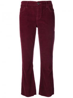 Укороченные вельветовые брюки Current/Elliott. Цвет: красный