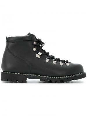 Ботинки по щиколотку на шнуровке Paraboot. Цвет: черный