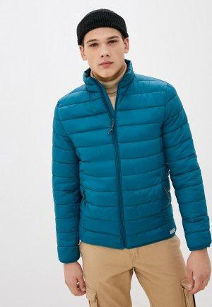 Куртка утепленная Springfield. Цвет: бирюзовый