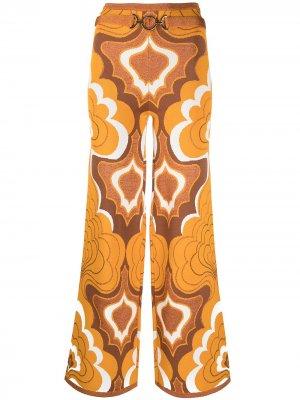 Расклешенные брюки с принтом Alice McCall. Цвет: оранжевый
