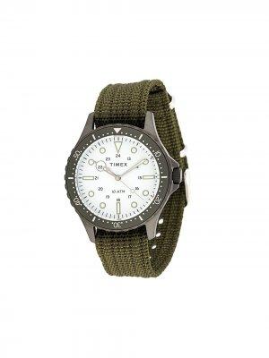 Наручные часы Navi XL 41 мм TIMEX. Цвет: зеленый