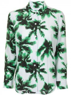 Рубашка Leema на пуговицах Equipment. Цвет: зеленый