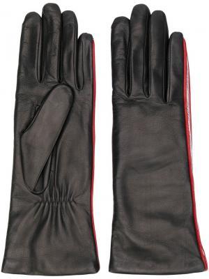Перчатки с полосками Agnelle. Цвет: черный