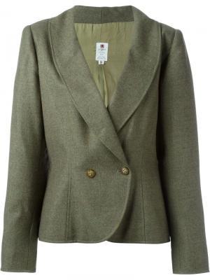 Пиджак с закругленным подолом Emanuel Ungaro Pre-Owned. Цвет: зеленый