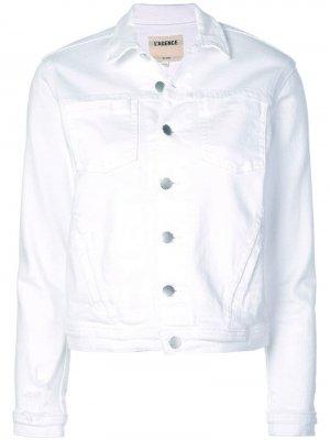 LAgence джинсовая куртка L'Agence. Цвет: белый