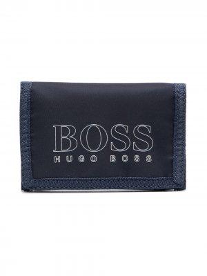 Кошелек с логотипом BOSS Kidswear. Цвет: синий