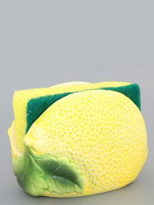 Подставка для губки Лимон с губкой Elan Gallery. Цвет: желтый, зеленый