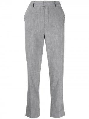 Прямые брюки строгого кроя GANNI. Цвет: серый