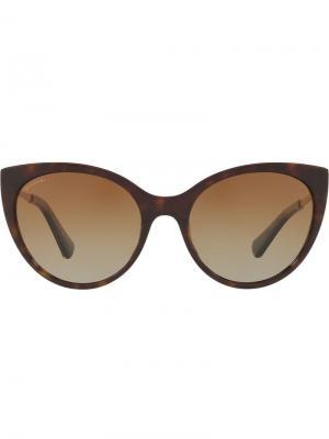 Tortoiseshell cat eye sunglasses Bulgari. Цвет: коричневый