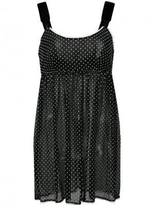 Ночная сорочка Jamilee со сборкой под грудью Morgan Lane. Цвет: черный