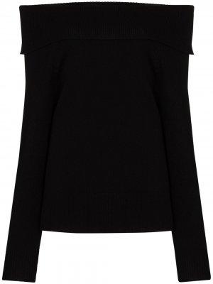 Свитер Izabella с открытыми плечами PAIGE. Цвет: черный