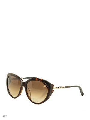 Солнцезащитные очки SK 9067 56F Swarovski. Цвет: коричневый, золотистый