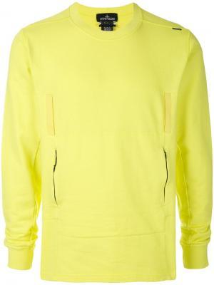 Casual sweatshirt Stone Island Shadow Project. Цвет: желтый