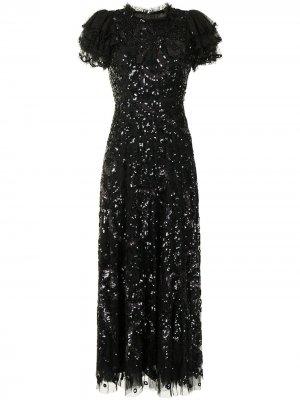 Вечернее платье Shirley Needle & Thread. Цвет: черный