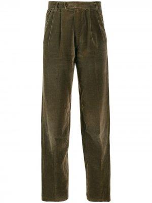 Зауженные брюки 1980-х годов Versace Pre-Owned. Цвет: коричневый