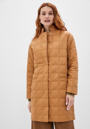 Куртка утепленная Stefanel. Цвет: бежевый