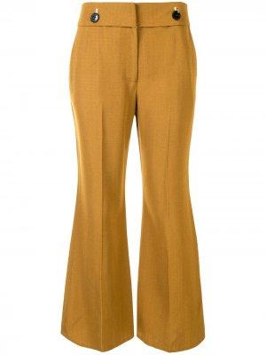 Укороченные расклешенные брюки Proenza Schouler. Цвет: коричневый