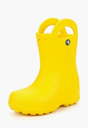 Резиновые сапоги Crocs. Цвет: желтый