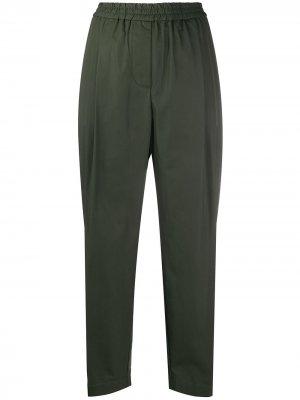 Укороченные брюки свободного кроя Aspesi. Цвет: зеленый