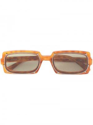 Солнцезащитные очки Turning в прямоугольной оправе Karen Walker. Цвет: коричневый