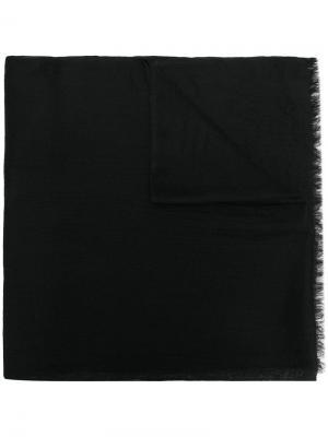 Шаль тонкой вязки N.Peal. Цвет: черный
