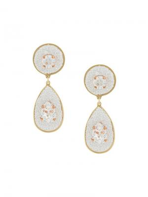 Dazzle drop earrings Shourouk. Цвет: металлик