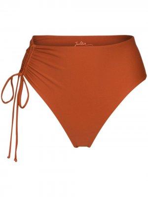 Плавки бикини Bodhi со сборками Juillet. Цвет: оранжевый