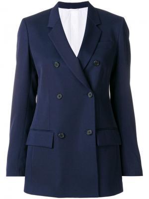 Двубортный жакет Calvin Klein 205W39nyc. Цвет: синий