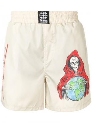 Пляжные шорты с принтом Sss World Corp. Цвет: нейтральные цвета