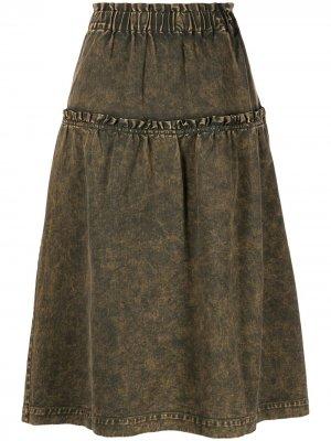 Джинсовая юбка миди Hildur Sea. Цвет: черный