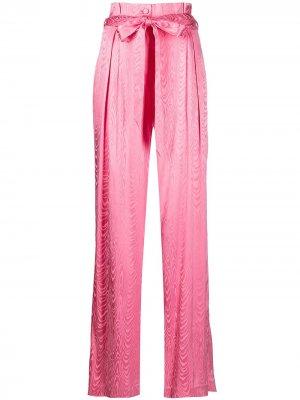 Жаккардовые брюки Mariana Moire Jonathan Simkhai. Цвет: розовый