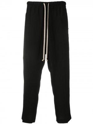 Укороченные брюки с кулиской Rick Owens. Цвет: черный
