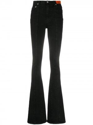 Расклешенные джинсы с завышенной талией Heron Preston. Цвет: черный