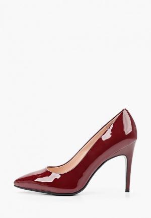 Туфли Zenden. Цвет: бордовый