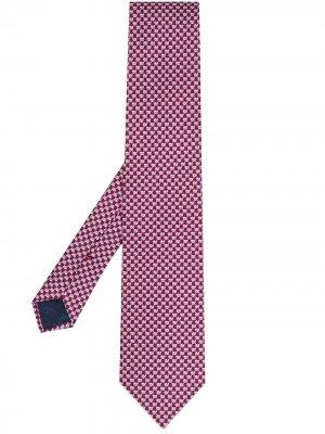 Галстук с принтом Salvatore Ferragamo. Цвет: розовый