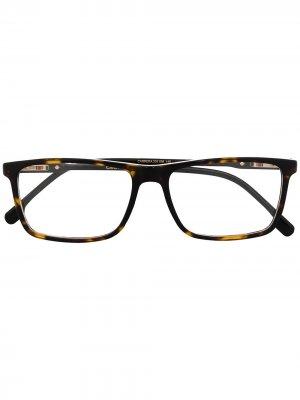 Очки в квадратной оправе черепаховой расцветки Carrera. Цвет: коричневый