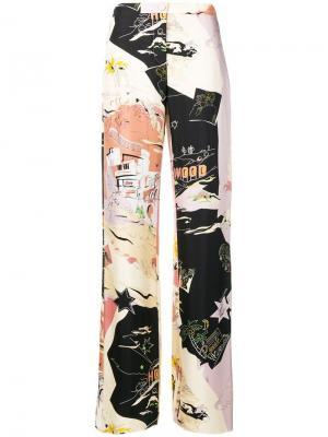 Пижамные брюки с принтом Emilio Pucci. Цвет: нейтральные цвета