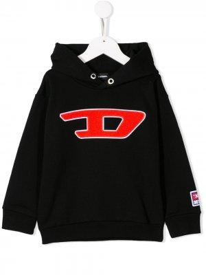 Толстовка с логотипом D Diesel Kids. Цвет: черный