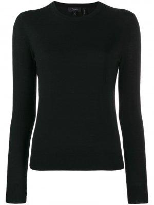 Пуловер с круглым вырезом Theory. Цвет: черный