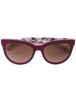 Солнцезащитные очки с фестончатыми элементами Vogue Eyewear. Цвет: коричневый