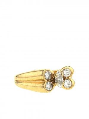 Кольцо 1980-х годов из желтого золота с и бриллиантами Van Cleef & Arpels. Цвет: желтый,белый
