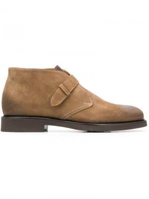 Ботинки-дезерты с поперечным ремешком Doucal's. Цвет: коричневый