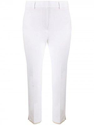 Укороченные брюки строгого кроя Incotex. Цвет: белый