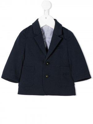 Твиловый блейзер BOSS Kidswear. Цвет: синий